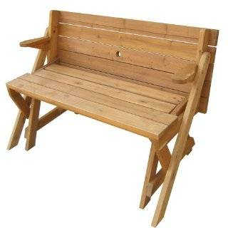 All Things Cedar Oval Picnic Table Patio, Lawn & Garden
