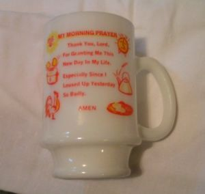 Fire King Milk Glass Mug