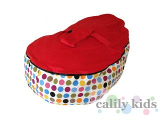 Baby Toddler Kids Portable Bean Bag Seat Tutti Frutti Red