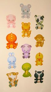 Nursery Boys Children Girl Kid Child Bedroom Baby Animal Wall Furniture Stickers