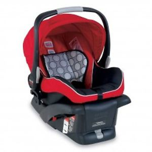Britax Baby B Safe Infant Car Seat Black Red Color
