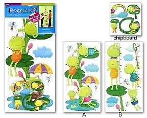 Baby Childrens Bedroom Frog Height Chart Wall Stickers