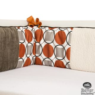 Glenna Jean Baby Neutral Orange Crib Nursery Bedding Quilt Set Bed Accessories
