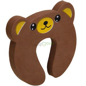 New Cartoon Bear Style Baby Kid's Child Safety Guard Door Stop Stopper Doorstops