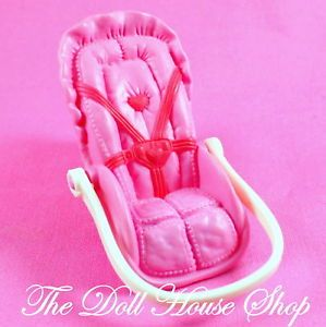 Fisher Price Loving Family Pink Baby Girl Doll Car Seat Carrier
