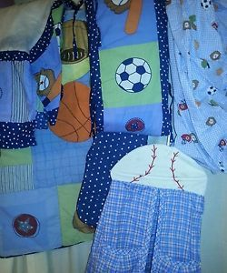 Baby Boys 5 Piece Crib Bedding Sports
