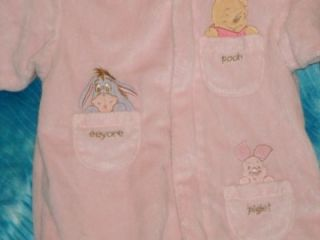 Gorgeous Baby Girls Super Soft Winter Pram Coverall Snow Suit 3 6 MO Disney Pooh