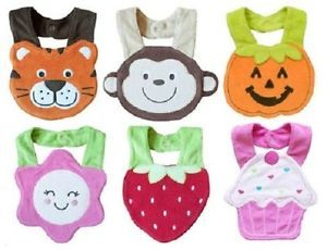 TD 6 Pcs Lovely Baby Feeding Cotton Towel Bibs Toddlers Infant