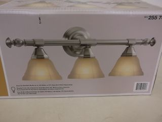 Hampton Bay Pewter 3 Light Rochester Bath Sconce Vanity Fixture Light 255760