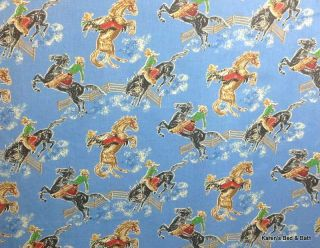 Western Ride Em Cowboy Rodeo Bronco Horse Curtain Valance New