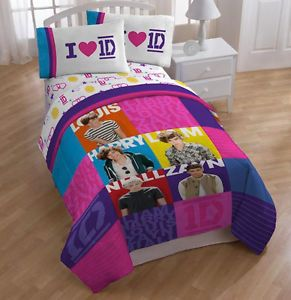 New 1D One Direction 4 PC Piece Girls Twin Bedding Comforter Sheet Set Bed Bag