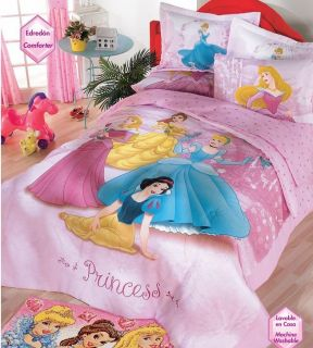 Disney Princess Girls Pink Comforter Bedding Set Full 8