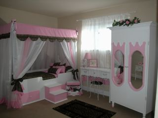 Butterfly Princess Canopy Bed Twin Bedding Girls Bed