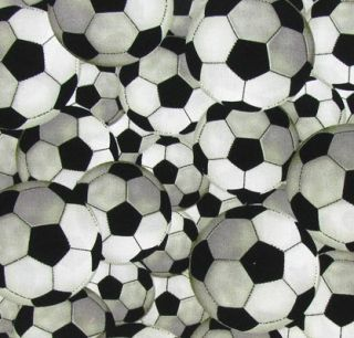 Soccer Balls Sports PE Play Game Boy Girl Custom Sewn Curtain Valance New