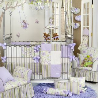 Glenna Jean Baby Girl Lavender Floral Crib Nursery Room Decor Bedding Quilt Set