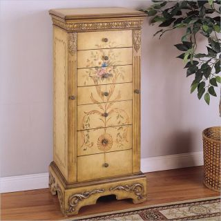 Masterpiece Antique Parchment Hand Painted Storage Box