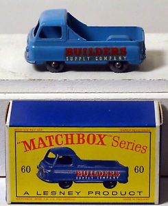 "DTE Moko Lesney Matchbox Regular Wheels 60 1 Lt KGPW RA Red WH ""Builders Supply"""