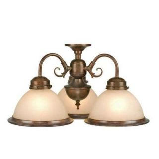New 3 Light Fan Kit Chandelier Ceiling Fixture Bronze