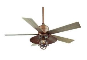 Hampton Bay Metro 54 inch Indoor Outdoor Ceiling Fan with Light Kit Copper