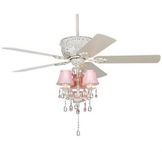 "New 52"" Gorgeous 3 Speed White Ceiling Fan Light Kit"