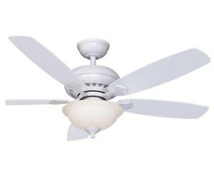 "Hampton Bay Southwind 52"" Ceiling Fan with Light Kit Bright White Finish"