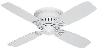 "Hunter 42"" Low Profile Ceiling Fan White HR 23873"