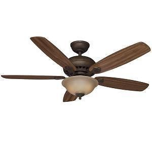 "Hampton Bay Southwind 52"" Ceiling Fan with Light Kit Venetian Bronze Finish"