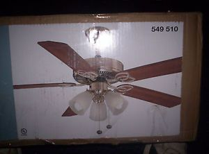"Hampton Bay Brookhurst 52"" Ceiling Fan in Brushed Nickel"