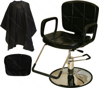 Reclining Hydraulic Barber Chair Mat Styling Station Bowl Beauty Salon Equipment