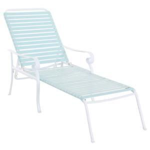 Hampton Bay Summerville Patio Chaise Lounge Turquoise New