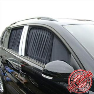 New 2pcs 50cm Luxury Black Auto Car Curtains Window Shade Visor Sunshade Valance