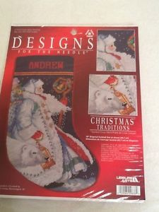 Leisure Arts Polar Santa Stocking Cross Stitch Kit