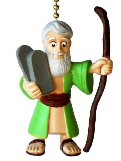 Moses Bible Commandments Character Novelty Home Decor Ceiling Fan Light Pull
