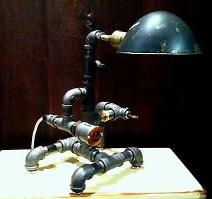 Best Steampunk Lamp Industrial NYC Desk Lamp Vintage Light Fixture Locomotive