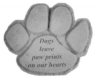 Kayberry Garden Accent Pet Memorial Stone Dogs Leave Paw Prints 90520