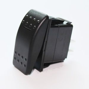 LED Boat Rocker Switch on Off Waterproof Black Marine Electrical 3 Pin Supply
