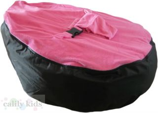Baby Toddler Kids Portable Bean Bag Seat Snuggle Bed Black Dark Pink