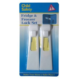 2 New Refrigerator Fridge Freezer Door Lock Baby Child Safety Secure Stick Latch