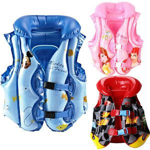 Baby Kid Toddler Disney Beach Swim Safety Vest Life Jacket Pool Float Aid Suit