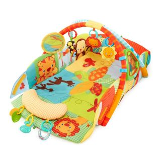Bright Starts Baby's Play Place Playmat Swingin' Safari