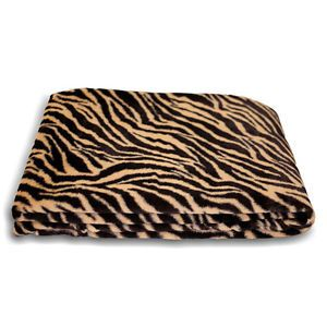Safari Faux Fur Tiger Fur Blanket Throw Blanket