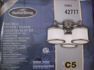 Harbor Breeze Westinghouse Indoor Outdoor Ceiling Fan Light Bells Kit Item 42777