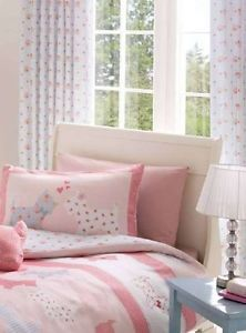 Superb Blue Pink Shabby Rose Chic Tab Top Lined Curtains 66 x 72 to Match Duvet