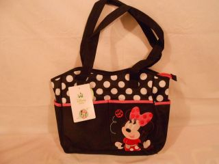 Disney Baby Minnie Mouse Diaper Bag Tote 5 Piece New