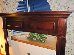 "Tranditional Mahogany Black Cherry Wood Fireplace Mantel 74"" x 58"" X7"""