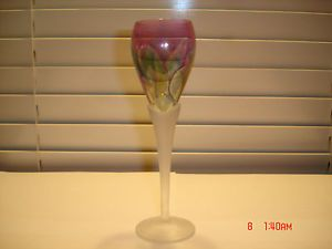 Vintage Colored Crystal Glass Footed Glass Wine Glasses Colorful Pedestal Glass