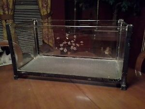 "Large Antique Art Deco Fish Aquarium Tank Stand 20"" x 10"" x 9 1 2"""