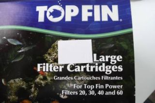 7 Top Fin Fish Tank Aquarium Large Filter Cartridges 20 30 40 60 Gallon Topfin