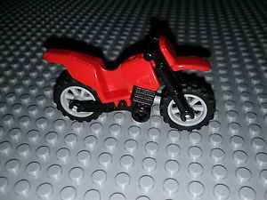 Lego Minifigure Accessories Red Dirt Bike Motorcycle