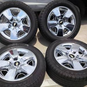 "20"" Chevrolet Tahoe Silverado Wheels Factory California Package Wheels"